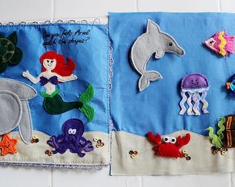 Little Mermaid Ariel Under the Sea Ocean Felt Quiet Book Princess Page PATTERN