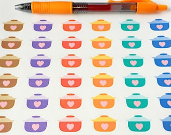 36 Crockpot Planner Stickers- Dinner Planning Stickers- perfect in your Erin Condren planner, wall calendar or scrapbook
