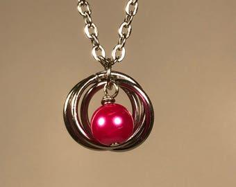 Collana Saturn (rosa)