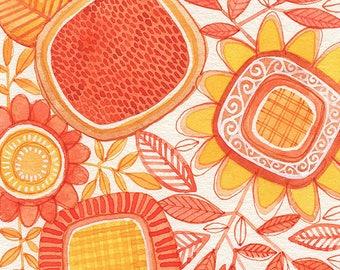 No.31, ORIGINAL watercolour, abstract floral, botanical, art, wall art, home decor