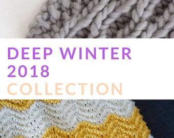 Chevron blanket knitting pattern - chunky knitting pattern - Cable scarf knitting pattern - textured scarf pattern - knitted scarf pattern