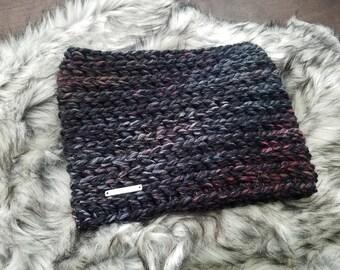 Ridge Cowl - Cowl Neck Scarf - Chunky Knit Scarf - Crochet Cowl