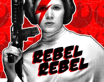Princess Leia Rebel Rebel Digital Print