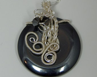 Wire Wrapped Donut. Wire Wrapped Hemalyke Pendant. Hemalyke Donut. Hemalyke Pendant. Wire Wrapped Pendant.