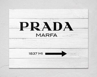 Prada Marfa Wall art