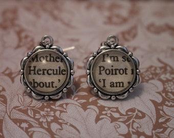 Hercule Poirot Earrings ~ Agatha Christie ~ Death On The Nile ~