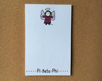 Pi Beta Phi Angel Officially Licensed Notepad