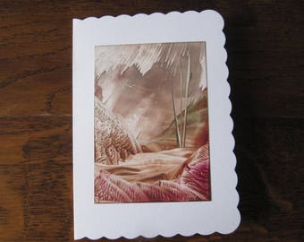 Wonderful Iceland 12 original Encaustic Painting greeting card