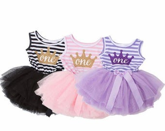 Baby girl first birthday outfit   First Birthday Dress Sleeveleess   1st Birthday Girl Outfit Dress   one year old girl birthday outfit
