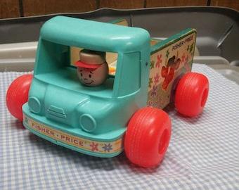 Fisher Price Milk Wagon #131 Pull Toy