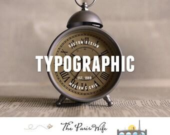 typographic logo design custom logo design boutique logo branding text logo design business logo wordpress website logo blog logo etsy shop