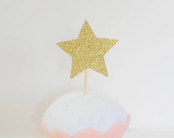 Star Cupcake topper, Stars Cupcake Topper, Twinkle little star Party, unicorn party