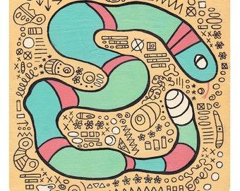 """Rattlesnake - Full Size Art Print (8x8"""")"""