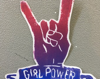 GIRL POWER STICKER — all profits to planned parenthood!
