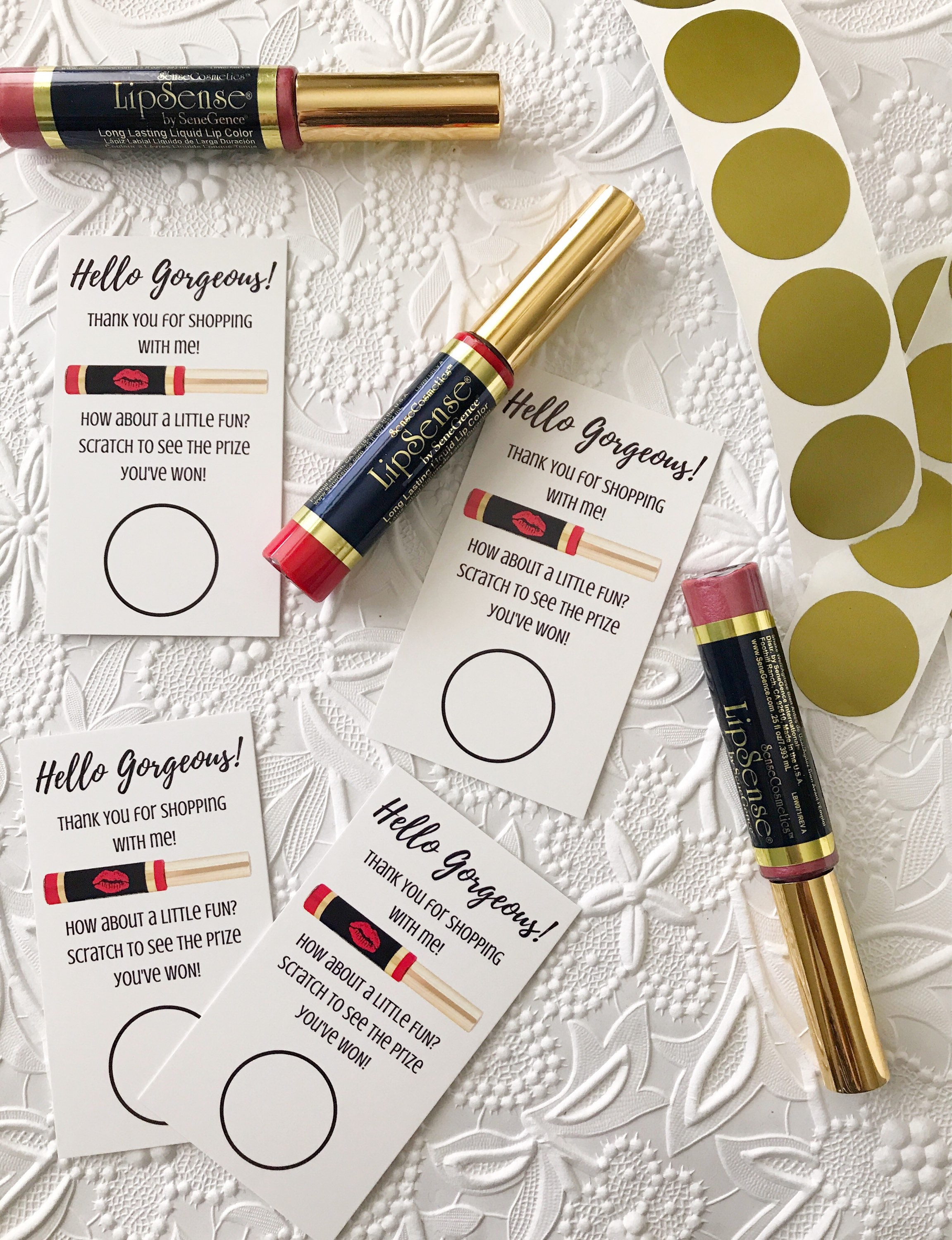 Classic red make your own lip scratch to win card printed and classic red make your own lip scratch to win card printed and shipped lipsense business cards reheart Gallery