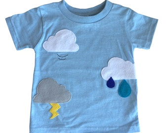 Clouds Are Everywhere! - Kids Baby Blue Shirt – Boys or Girls