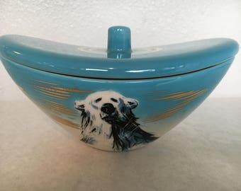 Matthew Adams Polar Bear Covered Dish by Sasha Brastoff Pottery