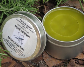 Repel and Relieve Bug Balm...Long Lasting, Mosquito Repelling, Skin Loving, All Natural Herbal Goodness, 1 or 4 oz Tin