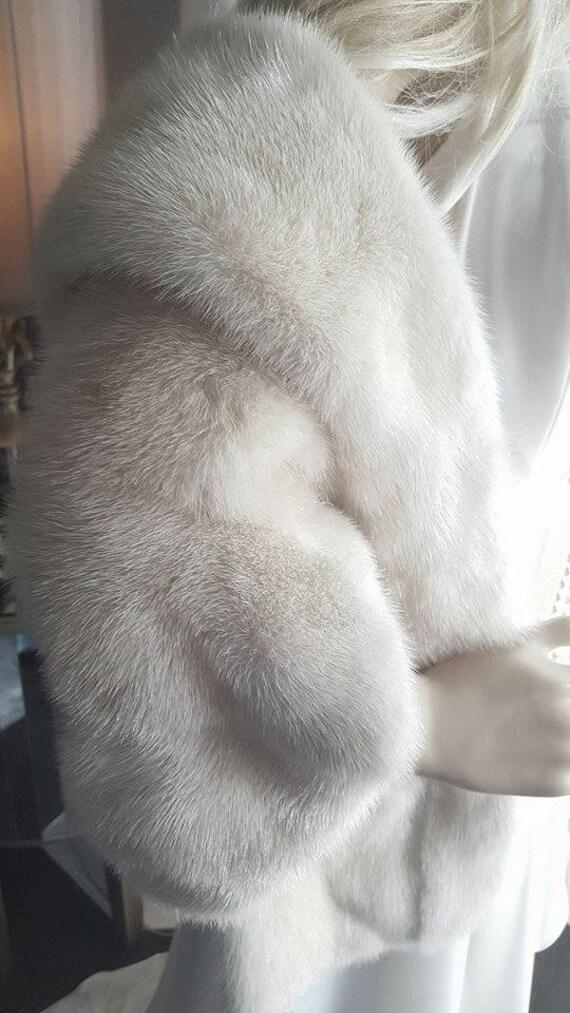 Luxury Bridal Bridal IVORY Luxury Jacket Coat Stole Fur Fur Fur Wrap Capelet Wedding Cape Fur Shrug Mink Mink Shawl Vintage Mink rPaqxw1r5
