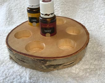 Natural birch essential oil holder