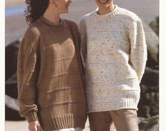 PDF Instant Download Knitting Pattern *Easy Lady's Sweater and Tunic* Hayfield 4864