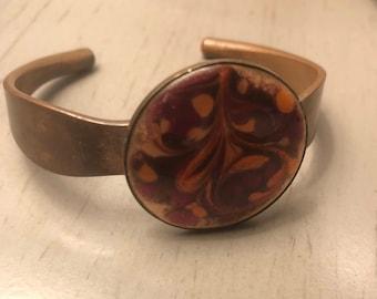 Vintage Copper Cuff Statement Bracelet