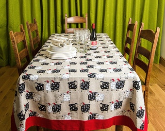 Christmas Tablecloth Linen Christmas Tablecloth Christmas sheep Tableware Christmas Gift Christmas Story Wrapped in Linen