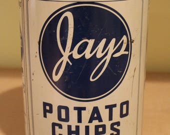 PRICESLASHED!!!  Jay's Potato Chips Can