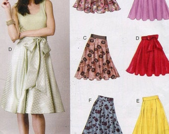 Vogue V8882 Misses Flared Skirts Sewing Pattern Size 6 to 14 UNCUT