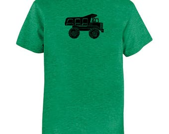 Dump Truck Shirt - Kids Shirt - Construction Big Truck Boys shirt / Girls Shirt - Multiple colors - PolyCotton blended shirt / Gift Friendly