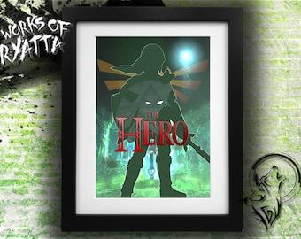 The Hero; Legend of Zelda Link Print