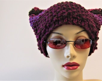 Horned Double Knit Hat