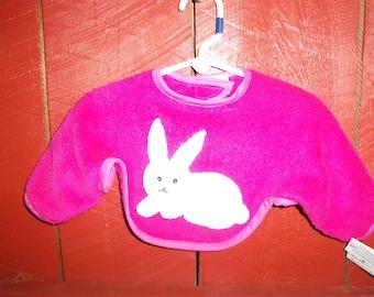 Bunny Baby Dinner Jacket (sleeved bib)