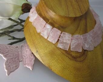 Schöööön!! Cleopatra Necklace Real Rose Quartz Naturally