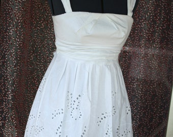 White eyelet dress SALE