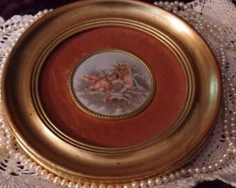 Vintage Cherubs Oil Painting