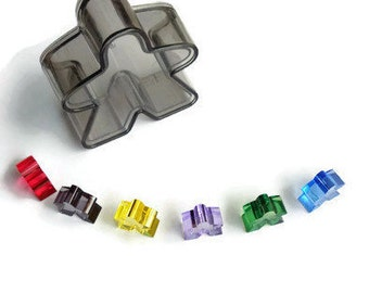 Carcassonne The Phantom Meeple pieces set translucent transparent