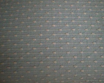 """BATES Light BLUE with WHITE Pinstripes and Pops Vintage Chenille Bedspread Fabric - 24"""" X 24"""""""