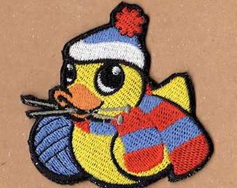Knitting Rubber Ducky Patch