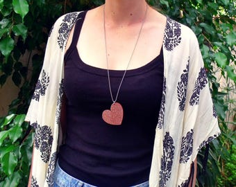 Acrylic Laser Cut Heart Necklace