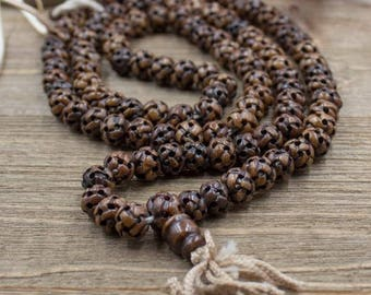 Endless Knot Hand Carved Mala