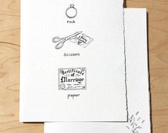Rock Paper Scissors Wedding Card