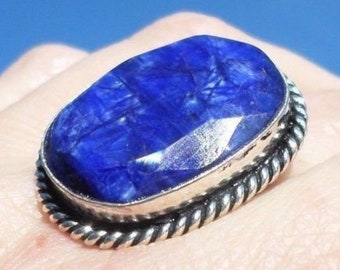 RING 925 sterling silver and Sapphire (BA69)