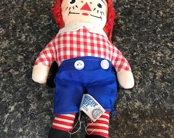 "Vintage Raggedy Andy mini 8"" doll"