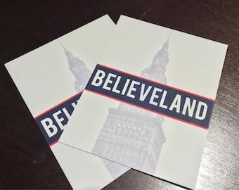 """Cleveland Indians Magnet - """"Believeland"""" Refrigerator Magnet"""