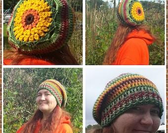 Sunburst Slouch Hat Crochet Pattern