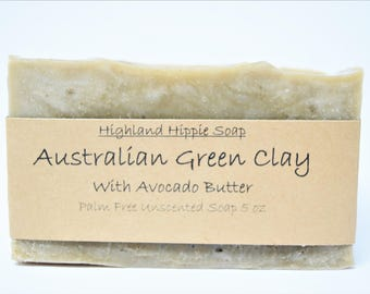 Australian Green Clay Soap/Unscented Soap/Handmade Soap/All Natural Soap