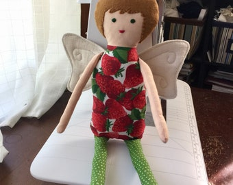 Fairy doll, spring fairy, easter gift, ostara, waldorf, rag doll