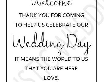 PRINTABLE Wedding Hotel Welcome Bag Tag with WATERCOLOR FLOWERS