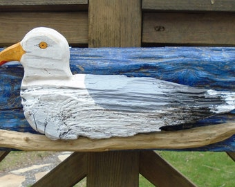 Driftwoof Seagull wall hanging